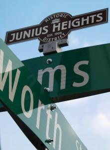 Junius Heights St. Sign